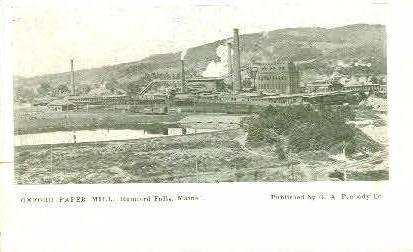 Oxford Paper Mill - Rumford Falls, Maine ME Postcard
