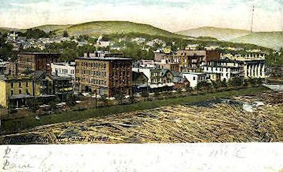 Canal St. - Rumford Falls, Maine ME Postcard