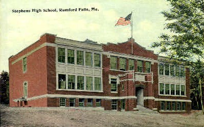 Stephens High School - Rumford Falls, Maine ME Postcard