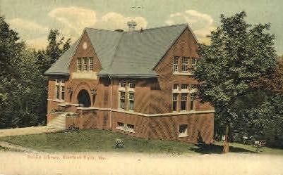Public Library - Rumford Falls, Maine ME Postcard