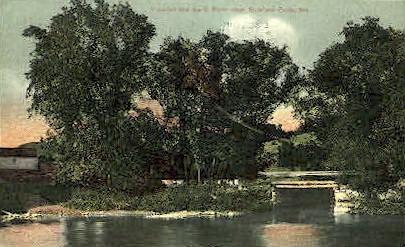 Swift River - Rumford Falls, Maine ME Postcard