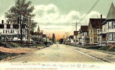 Franklin St. - Rumford Falls, Maine ME Postcard