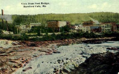 Rumford Falls, Maine, ME Postcard