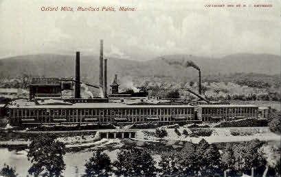 Oxford Mills - Rumford Falls, Maine ME Postcard