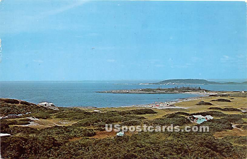 Hermit Island - Small Point Beach, Maine ME Postcard