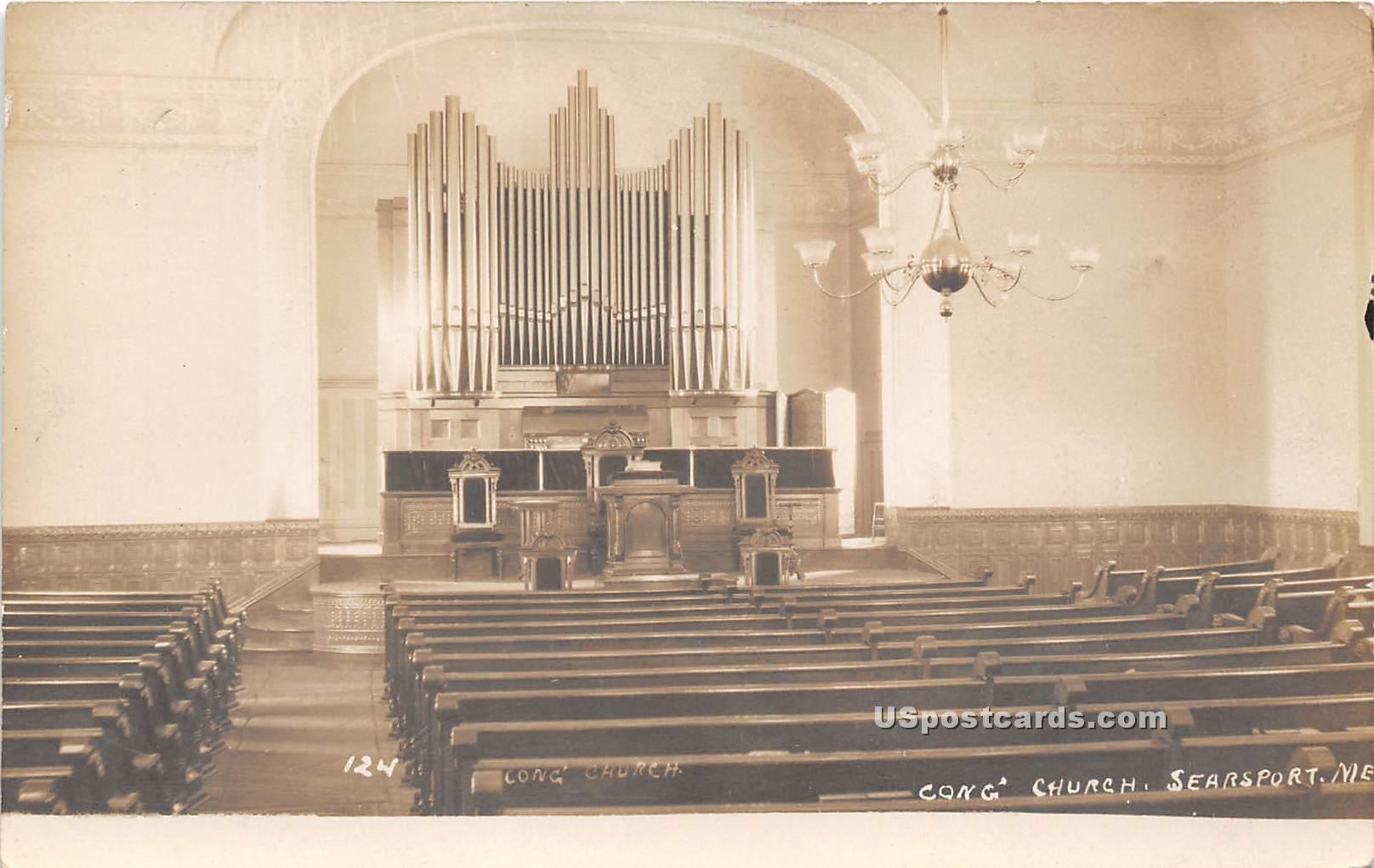 Congregational Church - Searsport, Maine ME Postcard