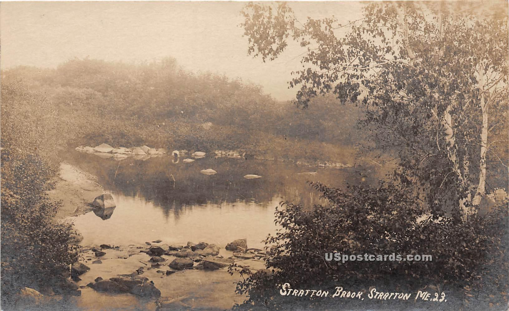 Stratton Brook - Maine ME Postcard