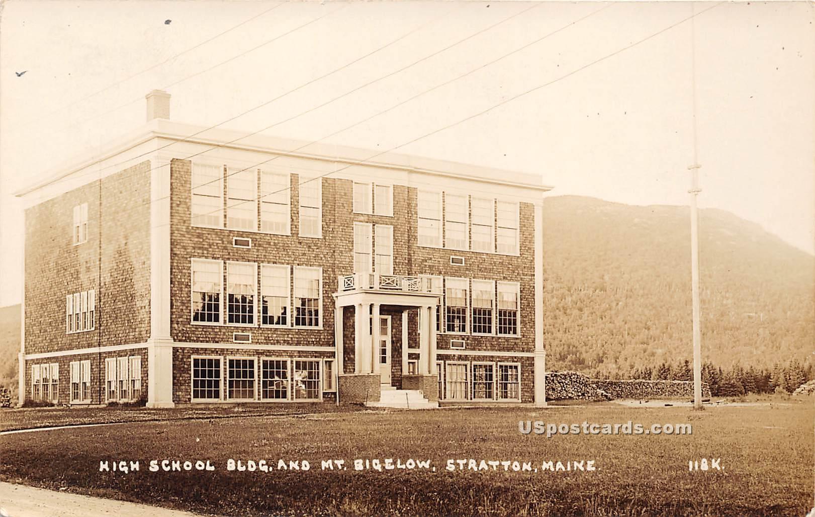 High School Building - Stratton, Maine ME Postcard