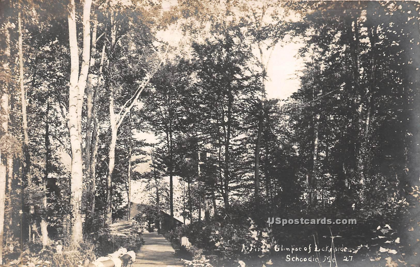 Lakeside - Schoodic, Maine ME Postcard