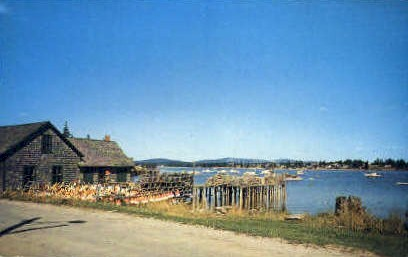 Lobster Shack & Traps - Acadia National Park, Maine ME Postcard