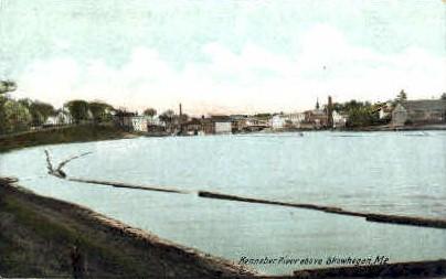 Kennebec River - Skowhegan, Maine ME Postcard