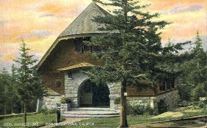 Congregational Church - Seal Harbor, Maine ME Postcard