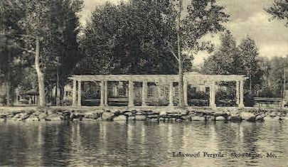 Lakewood Pergola - Skowhegan, Maine ME Postcard