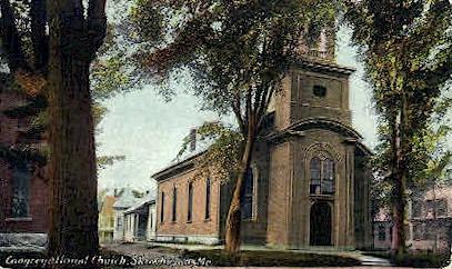 Congregational Church - Skowhegan, Maine ME Postcard