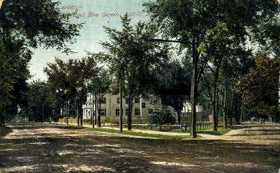 Elm St. - Saco, Maine ME Postcard