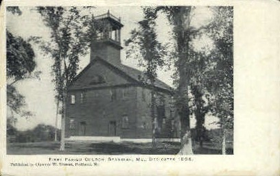 First Parish Church - Standish, Maine ME Postcard
