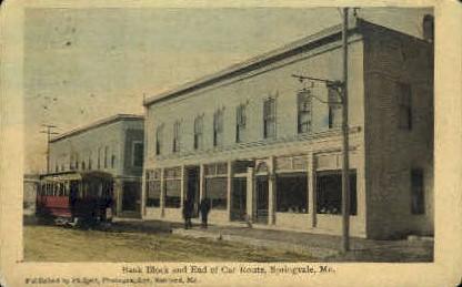 Bank Block - Springvale, Maine ME Postcard