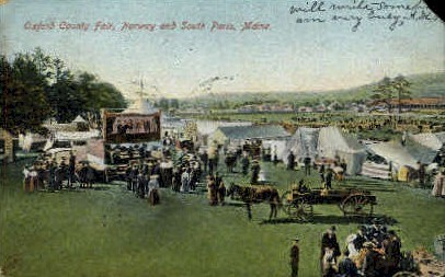 Oxford County Fair - South Paris, Maine ME Postcard