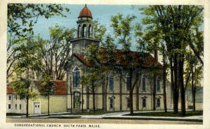 Congregational Church - South Paris, Maine ME Postcard