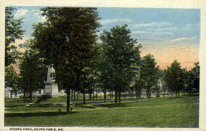 Moore Park - South Paris, Maine ME Postcard