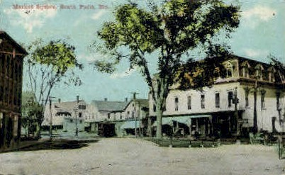 Market Square - South Paris, Maine ME Postcard