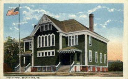 High School - South Paris, Maine ME Postcard