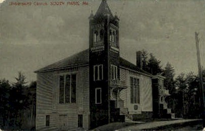 Universalist Church - South Paris, Maine ME Postcard