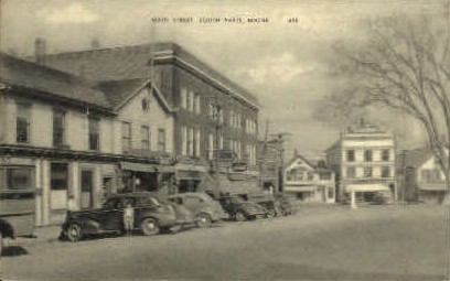 Main St. - South Paris, Maine ME Postcard