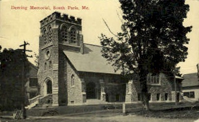 Deering Memorial Church - South Paris, Maine ME Postcard