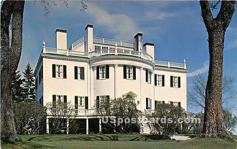 Montpelier restored home of General Knox of Revolutionary War - Thomaston, Maine ME Postcard