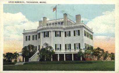 Knox Memorial - Thomaston, Maine ME Postcard