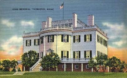 Knox Memorial - Thomaston, Maine ME Postcard