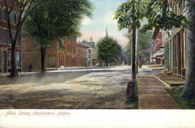 Main St. - Thomaston, Maine ME Postcard