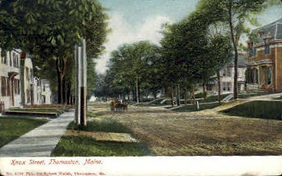 Knox St. - Thomaston, Maine ME Postcard
