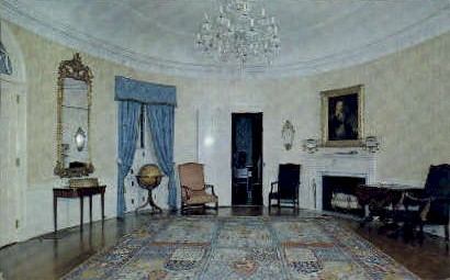 Oval Room, Montpelier - Thomaston, Maine ME Postcard