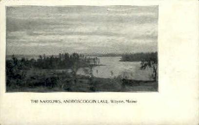 The Narrows - Wayne, Maine ME Postcard