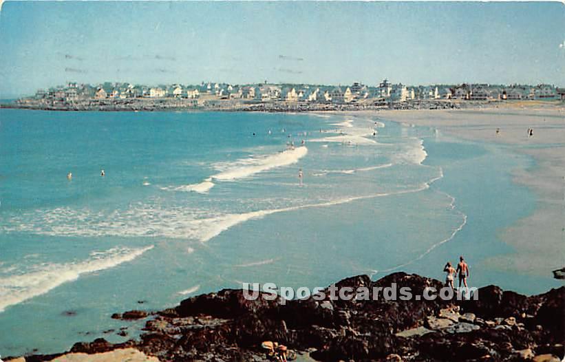 Surf Bathing & Concordville from Union Bluffs - York Beach, Maine ME Postcard