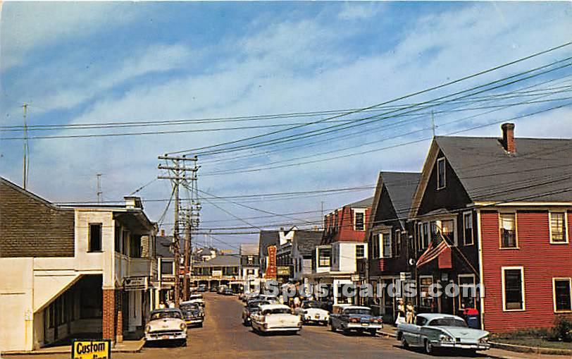Shopping Area - York Beach, Maine ME Postcard