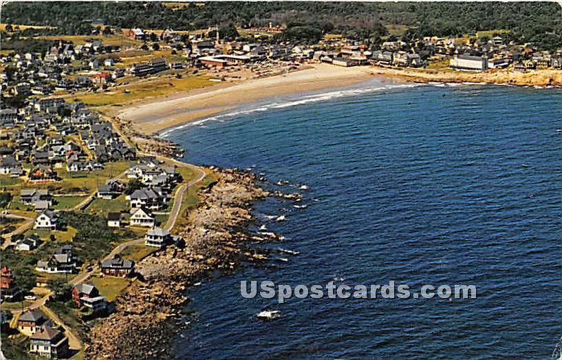 Aerial View ocean drives - York Beach, Maine ME Postcard