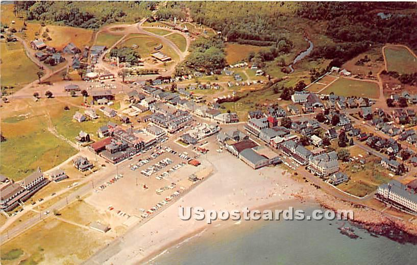 Airview of Short Sands Beach - York Beach, Maine ME Postcard