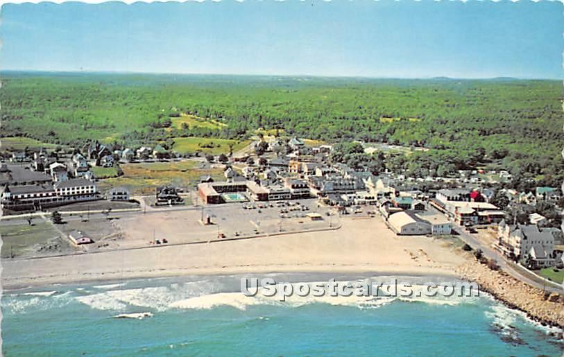 Aerial View Short Sands Beach - York Beach, Maine ME Postcard