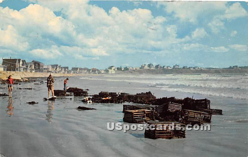 Long Sands, Lobster Fishermen - York Beach, Maine ME Postcard