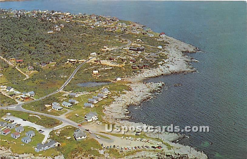 Aerial View of Mainland adjacent to Nubble Light - York Beach, Maine ME Postcard