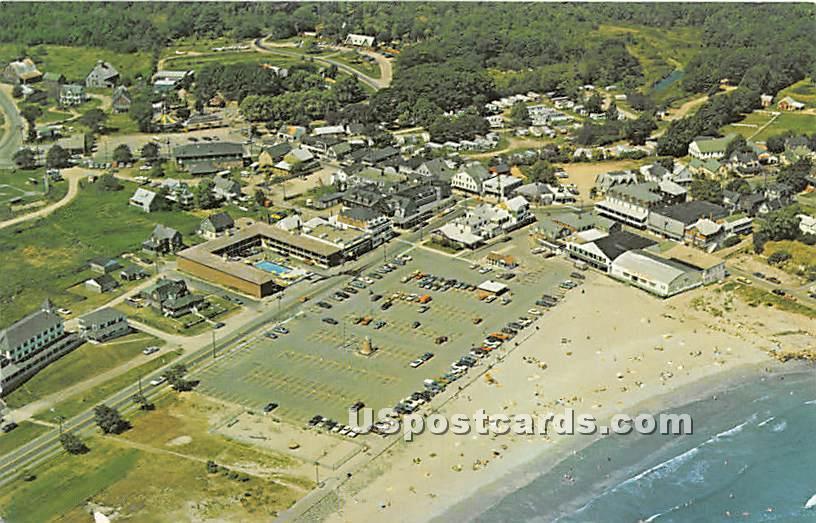 York Beach Business Center - Maine ME Postcard