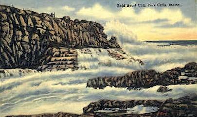 Bal Head Cliff - York Cliffs, Maine ME Postcard