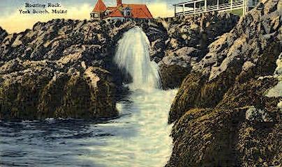 Roaring Rock - York Beach, Maine ME Postcard
