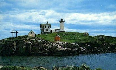 Mubble Light House - York Beach, Maine ME Postcard
