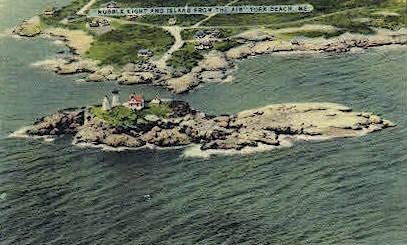Nubble Light & Island - York Beach, Maine ME Postcard