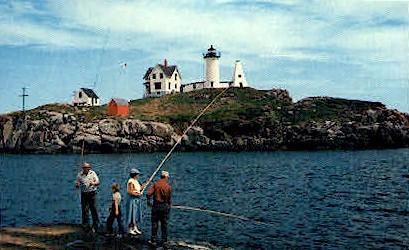 Nubble Light House - York Beach, Maine ME Postcard