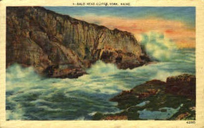 Bald Head Cliff - York, Maine ME Postcard